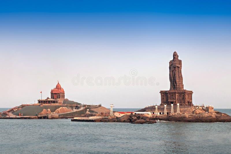 Vivekananda en Thiruvalluvar-standbeelden royalty-vrije stock afbeelding