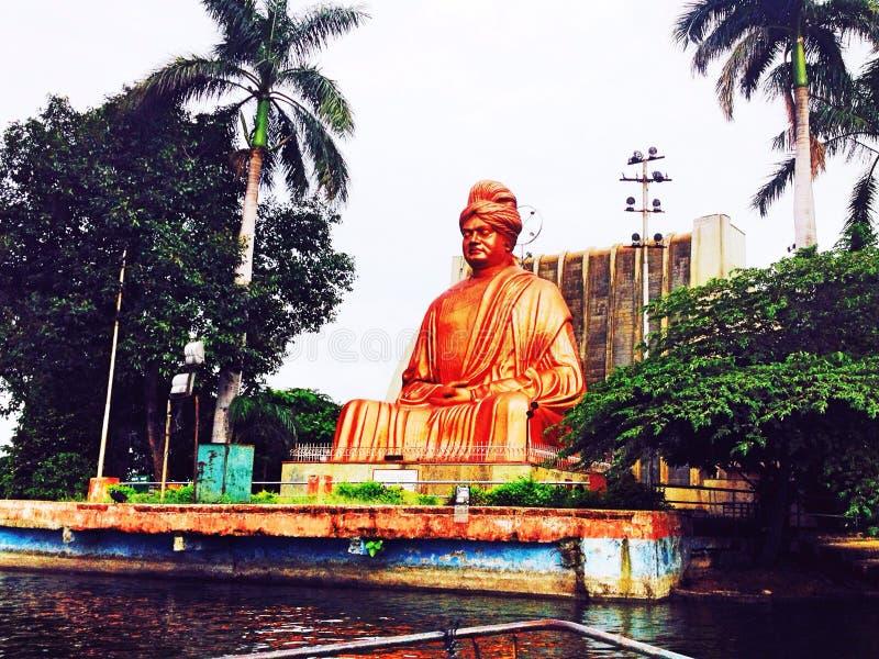 Vivekananda staty arkivbilder