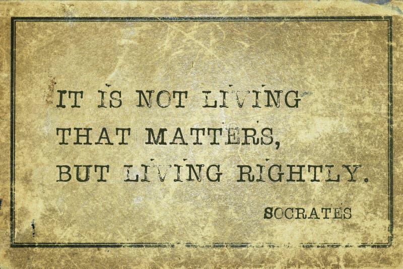 Vivendo direitamente Socrates fotos de stock royalty free