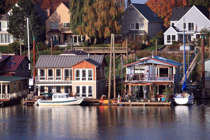 Vivendo na água, Portland Oregon. foto de stock royalty free