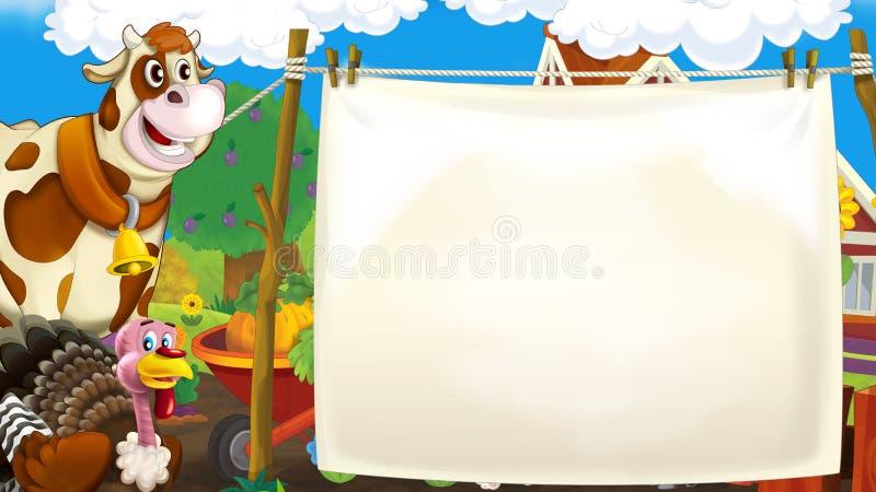 Vivendo sull'azienda agricola illustrazione di stock