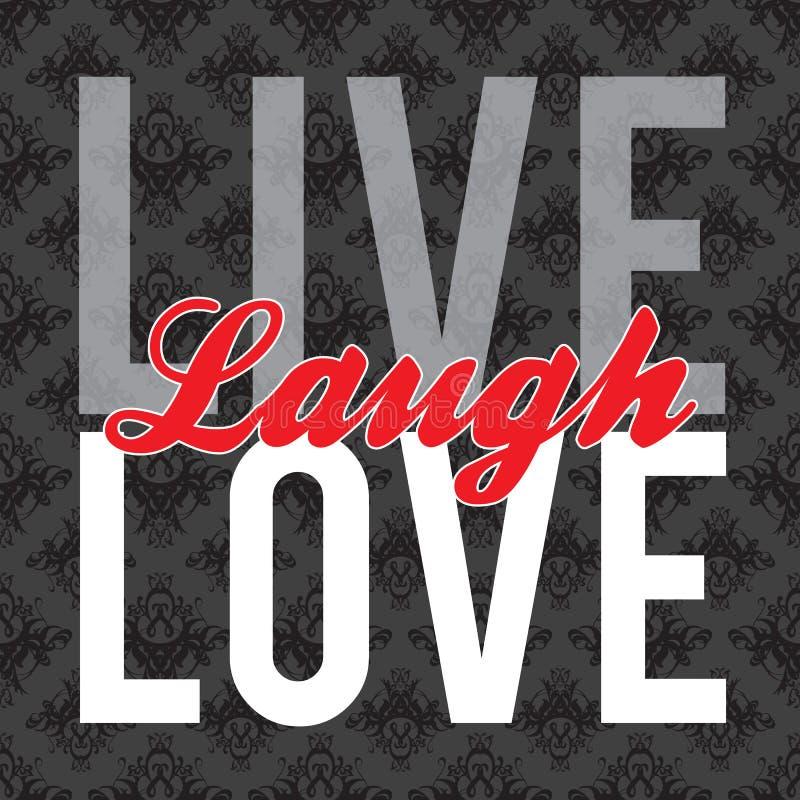 Vivent l'amour de rire illustration libre de droits