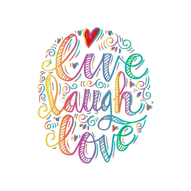 Download Vivent l'amour de rire illustration stock. Illustration du décoration - 87708523