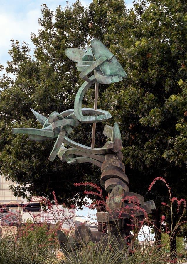 ` Vivente del ` da Andrew Rogers, Hall Park, Frisco, il Texas immagine stock
