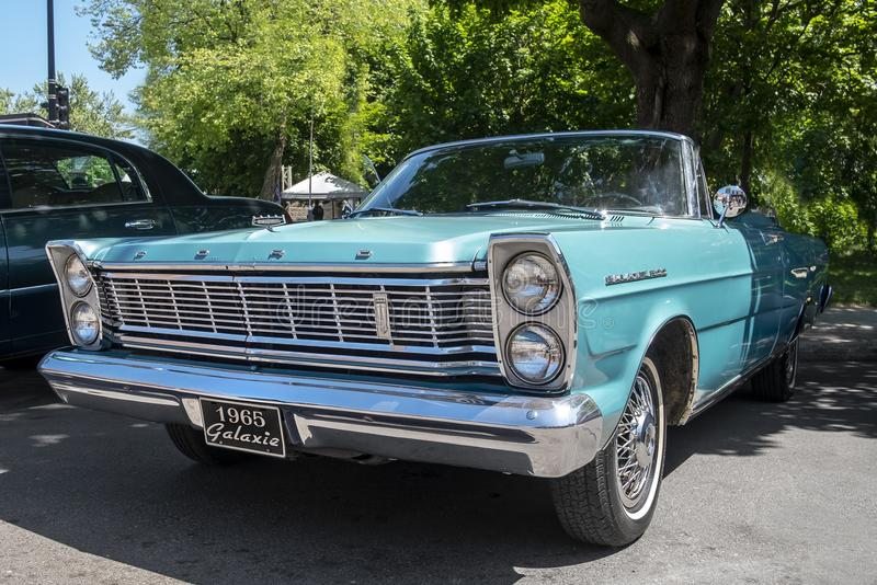Ford Galaxie 1965 The 2018 Grand Prix week-end event. Vivere Grand Prix in Little Italy 2018 Little Italy celebrates the beginning of summer with games for the royalty free stock photos