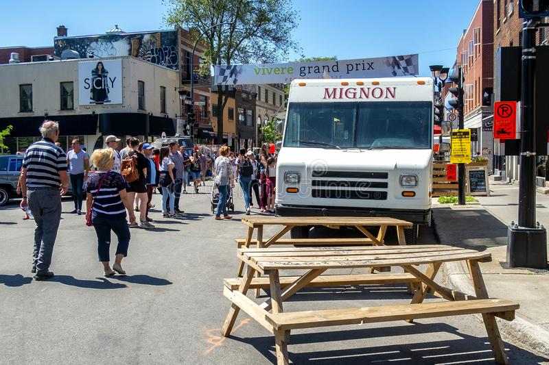 Vivere Grand Prix in Little Italy 2018 food truck royalty free stock photos