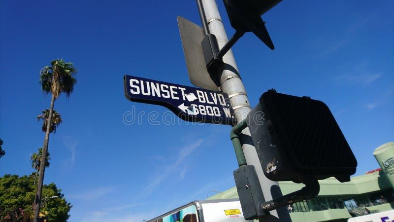 Vivere la vita di Sunset Boulevard! fotografia stock