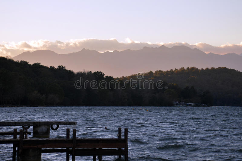 Viverone del lago, Turín Italia imagenes de archivo