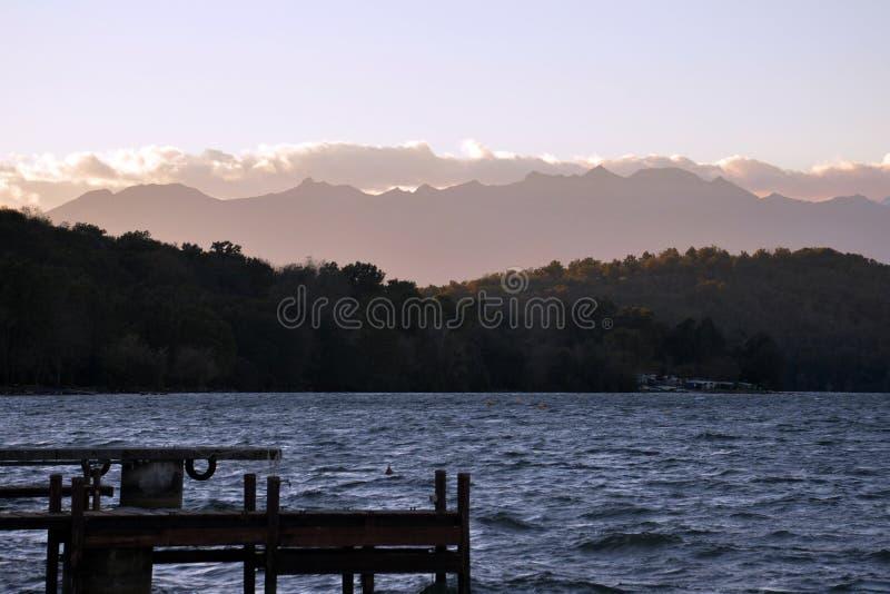 Viverone del lago, Turín Italia foto de archivo