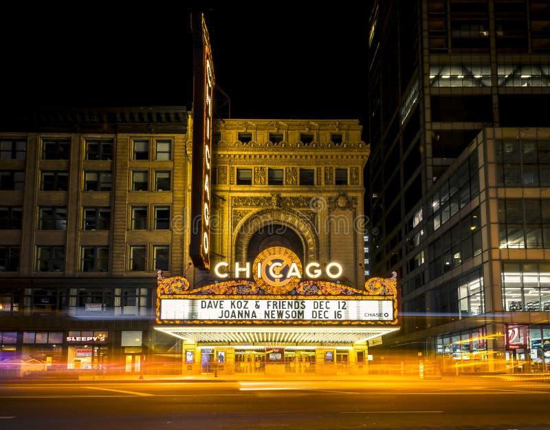 Vivez au théâtre de Chicago photos stock