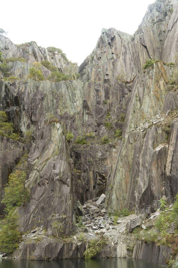 Vivian Slate Quarry, Noord-Wales stock afbeelding