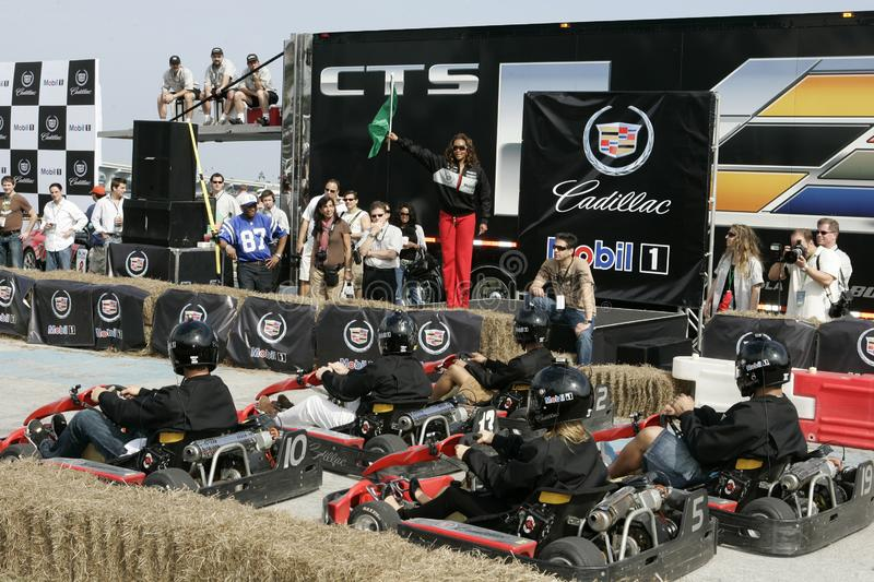 5th Annual Celebrity Cadillac Super Bowl Grand Prix royalty free stock images