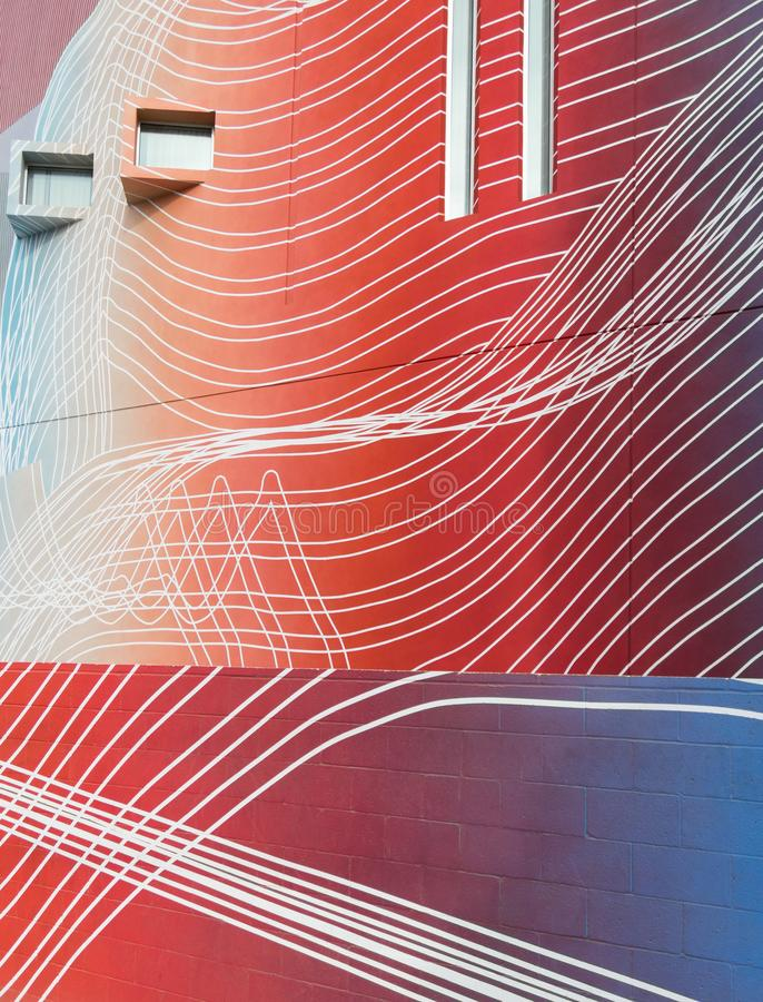 Vivid architectural colors and patterns stock photography