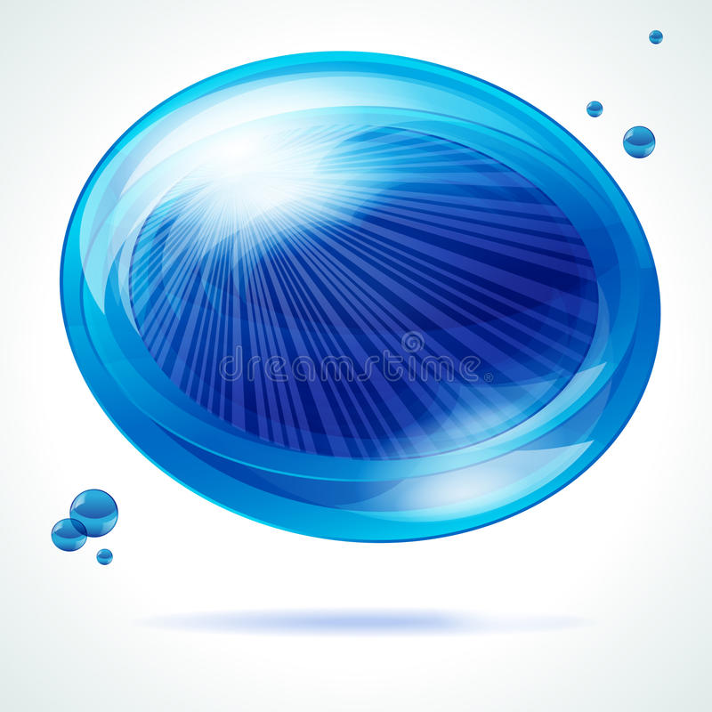 Vivid blue bubble. royalty free stock image
