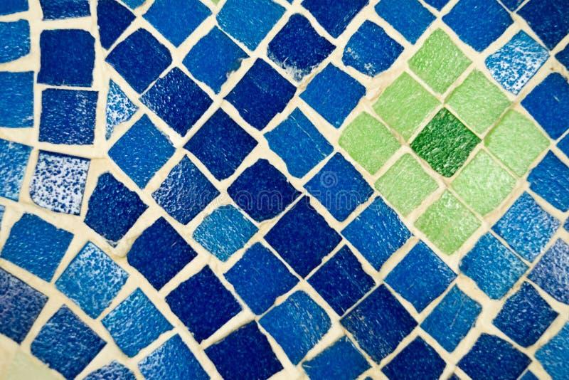 Vivid blue kaleidoscope background. Painted geometric pattern. stock image