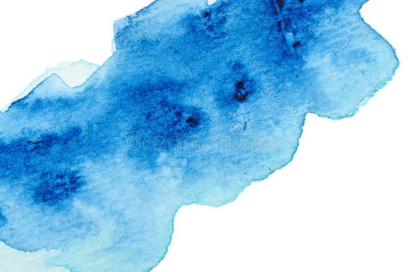 Vivid blue watercolor background. Vivid cold blue watercolor background stock illustration