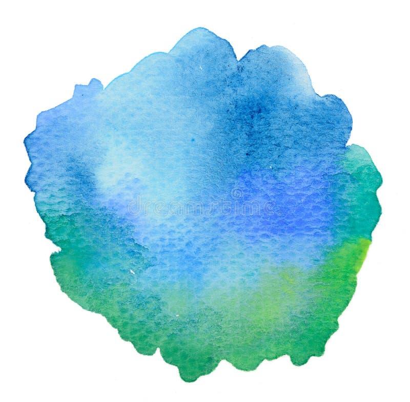 Vivid blue watercolor background. Vivid cold blue watercolor background vector illustration