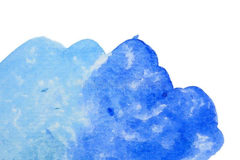 Vivid blue watercolor background. Vivid cold blue watercolor background royalty free illustration