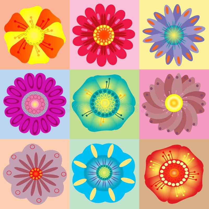 Vivid colorful floral background