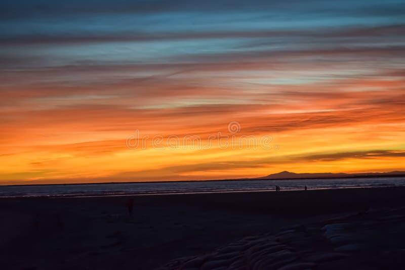 Sunset at Isla Canela, Spain royalty free stock photo