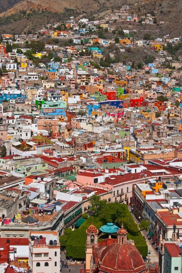 Vivid colors of Guanajuato Mexico royalty free stock image