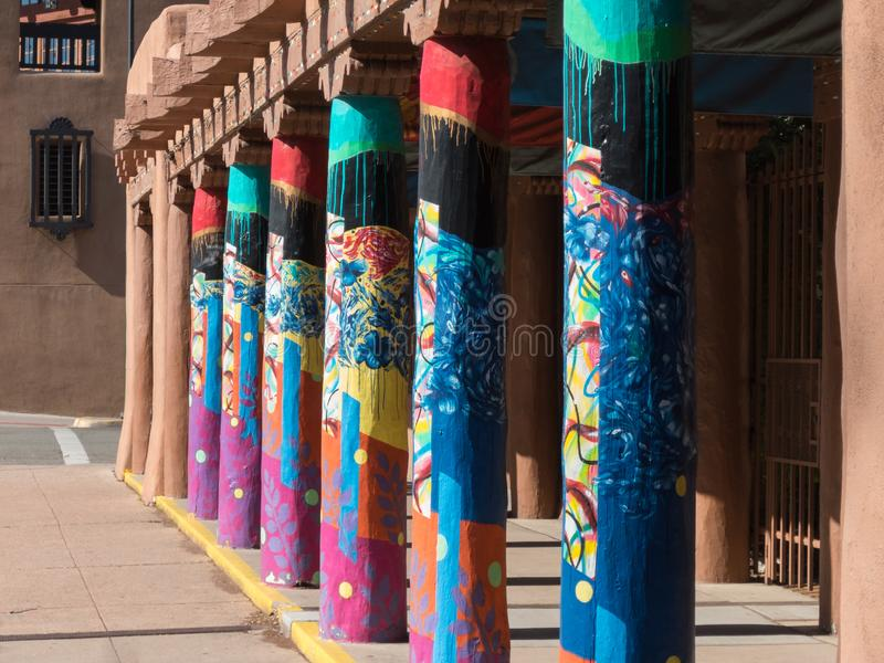 Vivid colors in Santa Fe royalty free stock photo