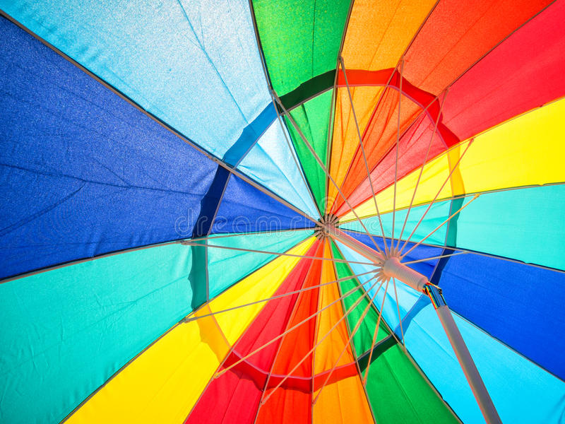Vivid colors in umbrella royalty free stock photography