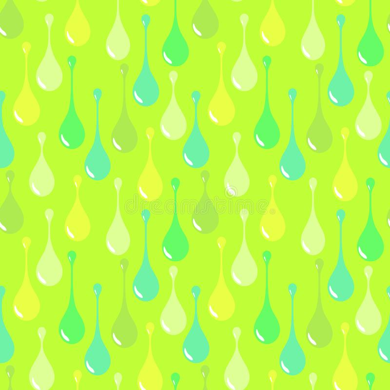 Vivid drops on light green background. Flashy green abstract vector seamless pattern for textile, prints, wallpaper etc. Available in EPS format vector illustration