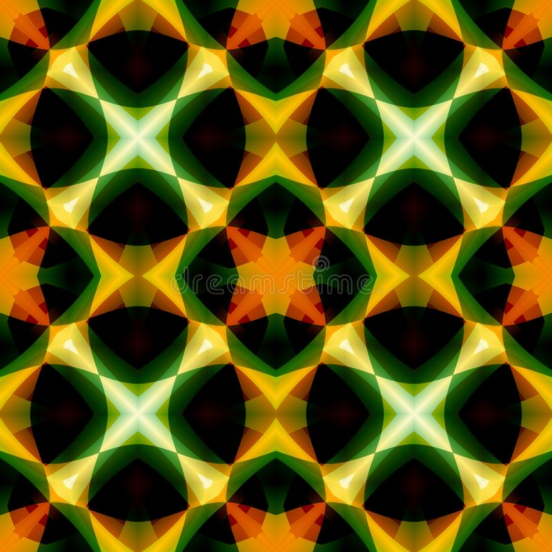 Vivid green orange abstract texture. Detailed background illustration. Seamless tile. Home decor fabric design sample. Tileable mo royalty free illustration