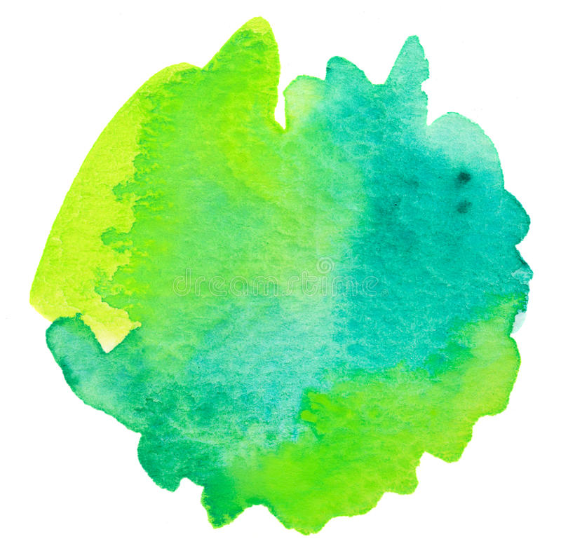 Vivid green watercolor background. Vivid lime green watercolor background royalty free illustration