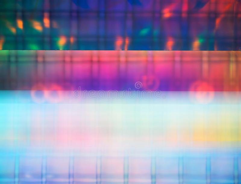 Vivid neon plasma background. Horizontal orientation vibrant bright color rich composition design concept element object shape backdrop decoration scene royalty free illustration