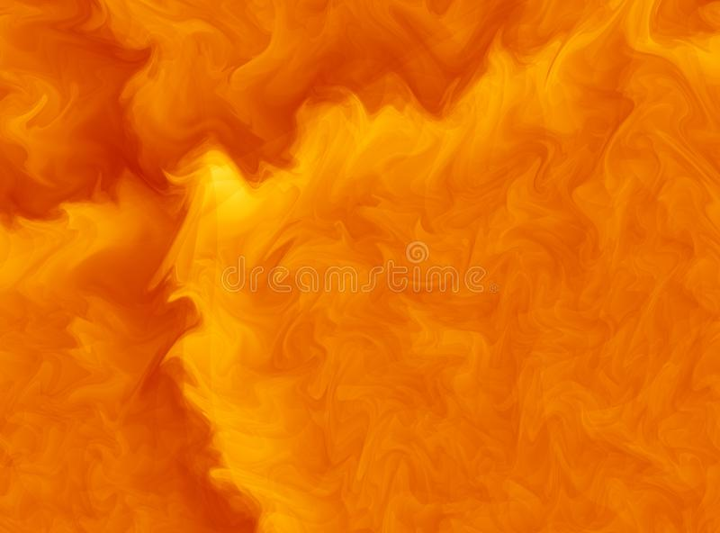 Vivid orange modern abstract fractal art. Bright background illustration with a chaotic pattern. Creative graphic template, free s stock illustration