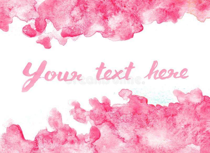 Vivid pink watercolor background. Vivid purple pink watercolor background stock illustration