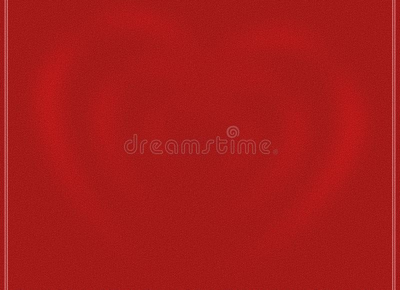 Vivid Red Background with Pink light red Bokeh Blur Hearts love Greeting card Illustration. Computer Graphic design royalty free illustration