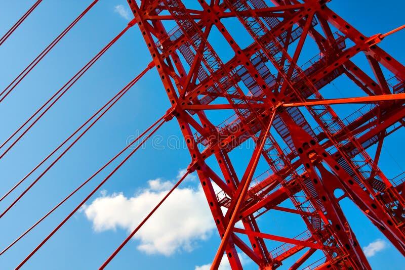Download Vivid red bridge stock photo. Image of construct, architecture - 16649220