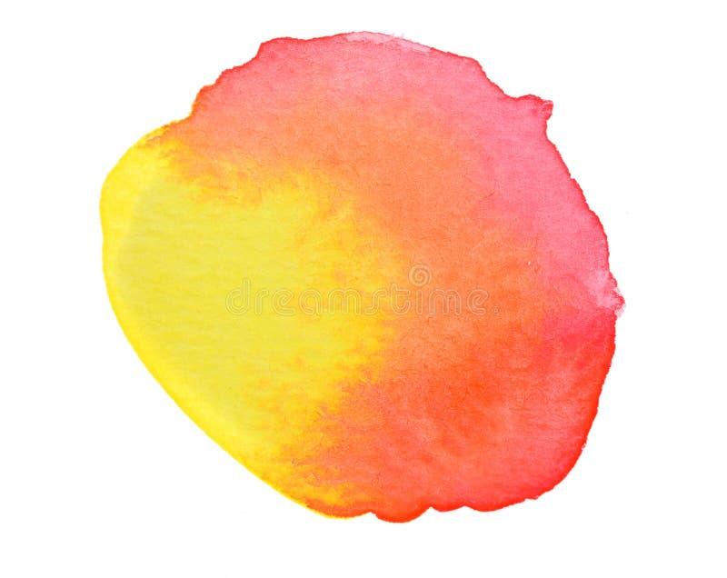 Vivid red orange yellow watercolor background. Vivid hot red orange yellow watercolor background stock illustration