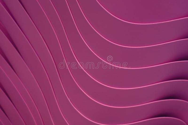 Vivid red purple color artistic curve lines of the piled up plastic bowls. Texture background abstract backdrop banner bright colorful creative dark decorative royalty free stock image