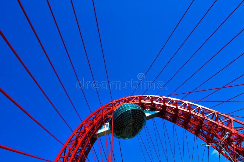 Download Vivid Red Suspension Bridge Royalty Free Stock Photo - Image: 16163035
