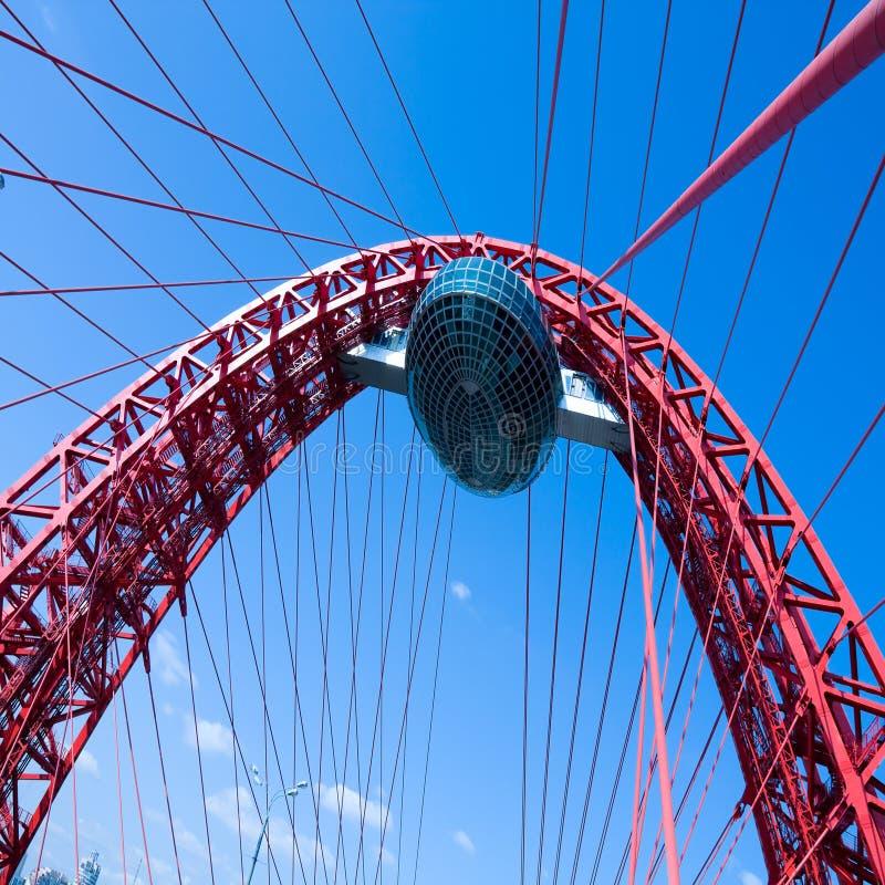 Download Vivid Red Suspension Bridge Stock Photo - Image: 17310816
