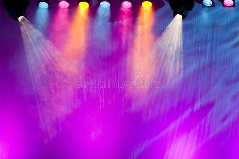 Vivid stage spotlights stock photos