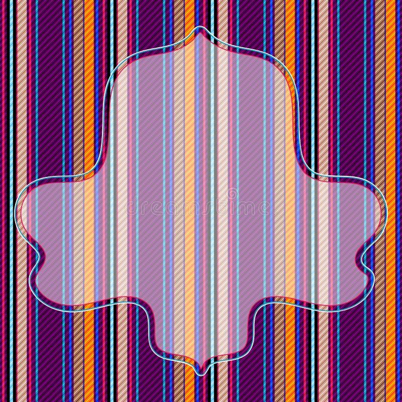 Download Vivid Striped Pattern With Frame Stock Vector - Illustration of color, dark: 21834687