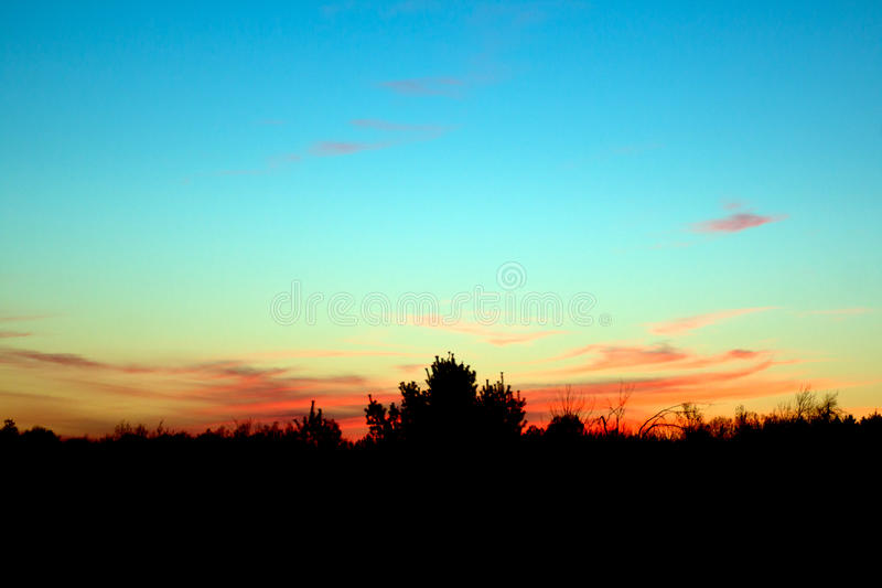 Download Vivid Sunset stock photo. Image of clouds, sunset, black - 92885022