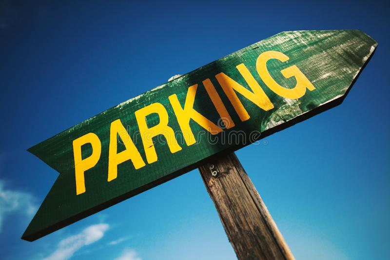 Closeup of Parking Arrow royalty free stock image