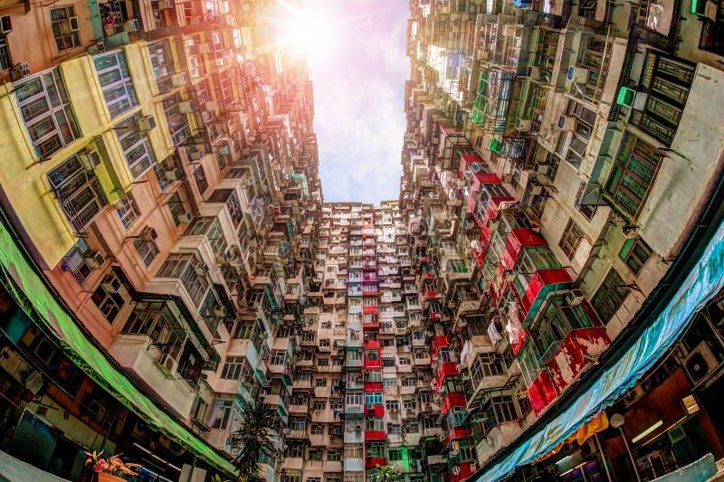 Vivienda apretada en Hong Kong imagenes de archivo