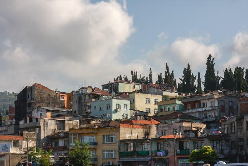 Vivienda de los tugurios en Turquía imagen de archivo libre de regalías