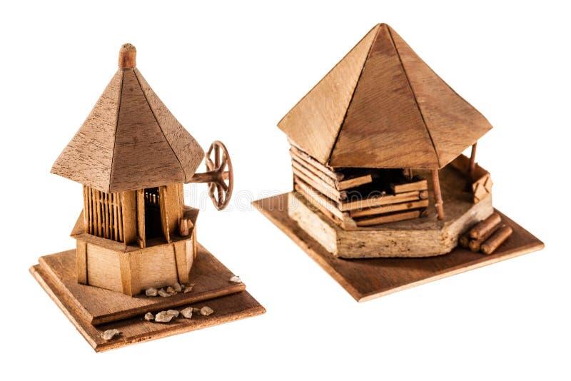 Vivienda de madera imagenes de archivo