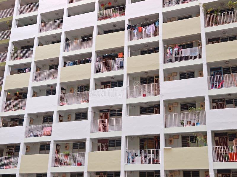Vivienda de protección oficial de Singapur imagen de archivo