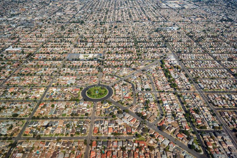 Vivienda residencial densa en Los Ángeles del sur fotografía de archivo libre de regalías