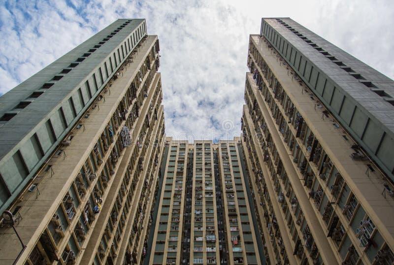 Vivienda y edificio apretados de Hong Kong fotos de archivo libres de regalías