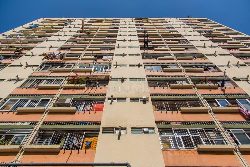 Vivienda y edificio apretados de Hong Kong foto de archivo